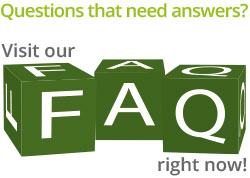 Questions that need answers? Visit our FAQ right now!